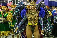Rio de Janeiro (RJ), 22/02/2020 CARNAVAL - RJ - DESFILE - Desfile das escolas de samba Academicos do Sossego, da Serie A, neste sabado (22), no sambodromo, no centro do Rio de Janeiro (RJ) Rainha da bateria Celi Costa (Foto: Ellan Lustosa/Codigo 19/Codigo 19)