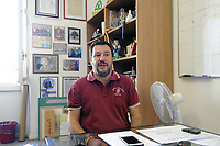 - Matteo Salvini, segretario federale della Lega Nord nella sede di Milano via Bellerio<br /> <br /> - Matteo Salvini, federal secretary of the Northern League in Milan via Bellerio headquarters