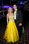 """Abigail Henningsen and William Reese at the San Luis Salute """"Space Pirates"""" VIP reception Friday February 24,2017. (Dave Rossman Photo)"""