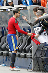 Spain's Alvaro Morata with the fans after friendly match. June 1,2016.(ALTERPHOTOS/Acero)
