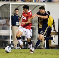 Nick Zimmerman, Raphael. Manchester United defeated Philadelphia Union, 1-0.
