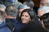 ANNE HIDALGO (MAIRE DE PARIS) - INAUGURATION DES ILLUMINATIONS DE NOEL DES CHAMPS-ELYSEES A PARIS, FRANCE, LE 22/11/2017.