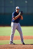 Cleveland Indians pitcher Brady Aiken (35) during an Instructional League game against the Kansas City Royals on October 11, 2016 at the Cleveland Indians Player Development Complex in Goodyear, Arizona.  (Mike Janes/Four Seam Images)