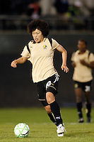 Eriko Arakawa (30) of FC Gold Pride. Sky Blue FC and FC Gold Pride played to a 1-1 tie during a Women's Professional Soccer match at TD Bank Ballpark in Bridgewater, NJ, on April 11, 2009.