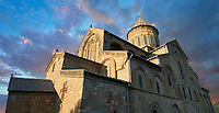 Pictures & images of the Eastern Orthodox Georgian Svetitskhoveli Cathedral (Cathedral of the Living Pillar) , Mtskheta, Georgia (country). A UNESCO World Heritage Site.<br /> <br /> Currently the second largest church building in Georgia, Svetitskhoveli Cathedral is a masterpiece of Early Medieval architecture completed in 1029 by Georgian architect Arsukisdze on an earlier site dating back toi the 4th century.