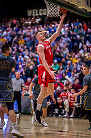 18 February 2018: Hartford University Hawk Forward John Carroll, a Redshirt Junior from Dublin, Ireland, in action against the University of Vermont Catamounts at Patrick Gymnasium in Burlington, Vermont. The Catamounts fell to the Hawks 69-68 in their America East Conference matchup. Mandatory Credit: Ed Wolfstein Photo *** RAW (NEF) Image File Available ***