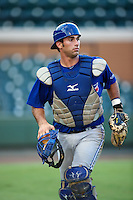 GCL Blue Jays Jorge Saez #18 during a Gulf Coast League game against the GCL Tigers at Joker Marchant Stadium on July 16, 2012 in Lakeland, Florida.  GCL Blue Jays defeated the GCL Tigers 4-3.  (Mike Janes/Four Seam Images)