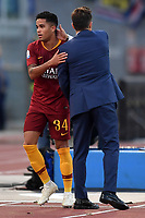 Justin Kluivert of AS Roma and Eusebio Di Francesco of AS Roma during the Serie A 2018/2019 football match between AS Roma and UC Sampdoria at stadio Olimpico, Roma, November, 11, 2018 <br />  Foto Andrea Staccioli / Insidefoto