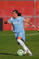 Meghan Schnur (12) of Sky Blue FC. Sky Blue FC defeated the Boston Breakers 2-1 during a Women's Professional Soccer match at Yurcak Field in Piscataway, NJ, on May 31, 2009.