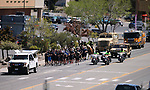 Carson City Sheriff's and other law enforcement representatives run the memorial baton into downtown Carson City, Nev., on Wednesday, May 3, 2017. The 20th annual Nevada Law Enforcement Memorial ceremony will be tomorrow.<br />Photo by Cathleen Allison/Nevada Photo Source