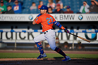New York Mets Brandon Nimmo (23), on rehab assignment with the Syracuse Mets, at bat during a game against the Charlotte Knights on June 11, 2019 at NBT Bank Stadium in Syracuse, New York.  (Mike Janes/Four Seam Images)