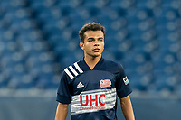 FOXBOROUGH, MA - AUGUST 21: Colby Quinones #41 of New England Revolution II during a game between Richmond Kickers and New England Revolution II at Gillette Stadium on August 21, 2020 in Foxborough, Massachusetts.
