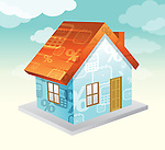 Conceptual image of home loans