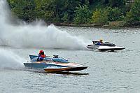 "H-202 ""Heavy Duty"" (1964 Lauterbach 7 Litre/Grand Prix hydroplane), Scott Kirshner, F-266 ""Miss Supersonic II"" , 266 class hydroplane"