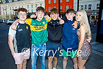 Enjoying the evening in Killarney on Saturday, l to r: Colin Callaghan (Farranfore), Luke Daly (Kilcummin), Jack Fogerty (Kilcummin), Eoin Looney (Killarney) and Abbie O'Sullivan (Killarney).
