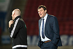 St Johnstone v Hearts…05.04.17     SPFL    McDiarmid Park<br />Tommy Wright has words with 4th official Bobby Madden<br />Picture by Graeme Hart.<br />Copyright Perthshire Picture Agency<br />Tel: 01738 623350  Mobile: 07990 594431