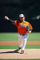 Bowie Baysox pitcher Mikey O'Brien (26) delivers a pitch during a game against the Reading Fightin Phils on July 22, 2015 at Prince George's Stadium in Bowie, Maryland.  Bowie defeated Reading 6-4.  (Mike Janes/Four Seam Images)