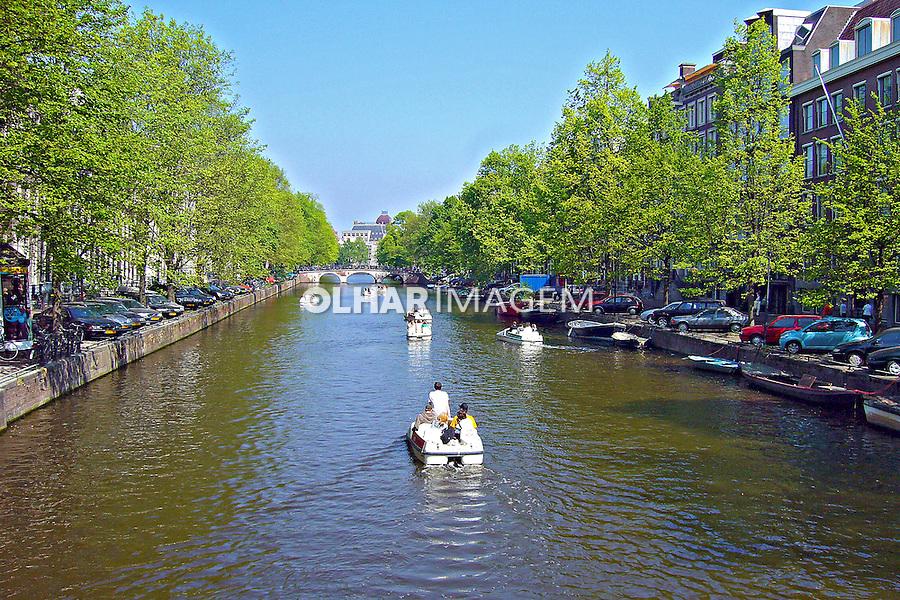 Passeio pelo canal da cidade. Amsterdã, Holanda. 2007. Foto:Marcio Nel Cimatti.