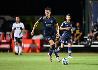 LAKE BUENA VISTA, FL - JULY 26: Graham Smith of Sporting KC looks for options during a game between Vancouver Whitecaps and Sporting Kansas City at ESPN Wide World of Sports on July 26, 2020 in Lake Buena Vista, Florida.
