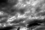 Stratocumulus clouds toward sunset with stromy weather approaching