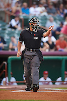 Umpire Jose Matamoros during a game between the Brooklyn Cyclones and Tri-City ValleyCats on September 1, 2015 at Joseph L. Bruno Stadium in Troy, New York.  Tri-City defeated Brooklyn 5-4.  (Mike Janes/Four Seam Images)