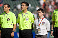 Canadian head referee Mauricio Navarro, second from left. The USA defeated Denmark 3-1 in an International friendly at the Home Depot Center in Carson, CA on January 20, 2007.