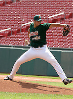 June 2, 2005:  Pitcher Fernando Cabrera of the Buffalo Bisons during a game at Dunn Tire Park in Buffalo, NY.  Buffalo is the International League Triple-A affiliate of the Cleveland Indians.  Photo by:  Mike Janes/Four Seam Images
