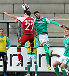 17.10.2020, Schwarzwald Stadion, Freiburg, GER, 1.FBL, SC Freiburg vs SV Werder Bremen<br /><br />im Bild / picture shows<br />Nicolas Höfler (Freiburg), Leonardo Bittencourt (Bremen)<br /><br />Foto © nordphoto / Bratic<br /><br />DFL REGULATIONS PROHIBIT ANY USE OF PHOTOGRAPHS AS IMAGE SEQUENCES AND/OR QUASI-VIDEO.