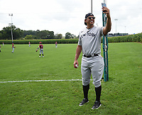 DYERSVILLE, IOWA - AUGUST 11: Fox Sports announcer Alex Rodriguez at the MLB Field of Dreams on August 11, 2021 in Dyersville, Iowa. The MLB Field of Dreams game between the Yankees and White Socks will be on August 12 on Fox. (Photo by Frank Micelotta/Fox Sports/PictureGroup)