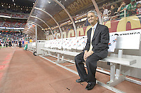 Sunil Gulati sits on the US bench. USA and Mexico tied, 2-2, in an international friendly at Reliant Stadium, Houston, Texas on February 6, 2008.