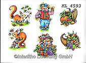 Interlitho-Theresa, CUTE ANIMALS, LUSTIGE TIERE, ANIMALITOS DIVERTIDOS, paintings+++++,6 autumn animals,KL4593,#ac#, EVERYDAY ,sticker,stickers ,autumn,harvest