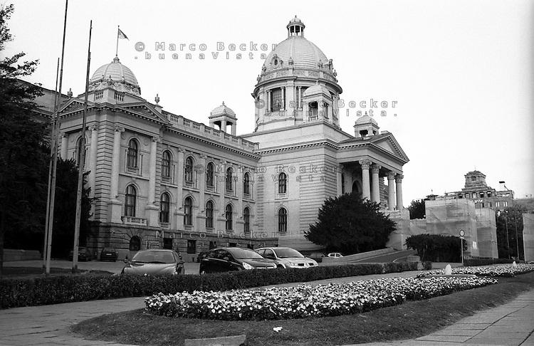 Belgrado, Palazzo del Parlamento Serbo (Assemblea Nazionale della Repubblica di Serbia) --- Belgrade, the Serbian Parliament Building (House of the National Assembly of Serbia)