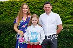 Scoil Nuachabháil NS student Megan Ahern with her parents Mary and Mike Ahern at her confirmation in St Brendan's Church Ballymac on Thursday.