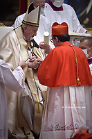 Cardinal Augusto Paolo Lojudice .Pope Francis leads a consistory for the creation of five new cardinals  at St Peter's basilica in Vatican.28 november 2020