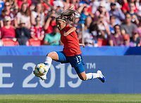 PARIS,  - JUNE 16: Javiera Toro #17 takes a first touch during a game between Chile and USWNT at Parc des Princes on June 16, 2019 in Paris, France.