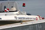 Western Lakes Dive Team rescue boat on Okaukee Lake Oconomowoc Wisconsin