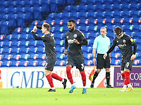 26th December 2020; Cardiff City Stadium, Cardiff, Glamorgan, Wales; English Football League Championship Football, Cardiff City versus Brentford; Sergi Canós of Brentford celebrates after scoring the equalizer making it 1-1 in the 50th minute
