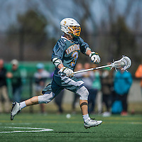 16 April 2016: University of Vermont Catamount Midfielder Matt Gudas, a Sophomore from Concord, NH, in action against the University of Maryland, Baltimore County Retrievers at Virtue Field in Burlington, Vermont. The Catamounts defeated the Retrievers 14-10 in NCAA Division I play. Mandatory Credit: Ed Wolfstein Photo *** RAW (NEF) Image File Available ***