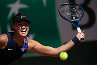 30th May 2021; Roland Garros, Paris, France; French Open Tennis championships, day 1;  Wang Xiyu hits a return during during womens singles first round match against Danielle Collins of the United States