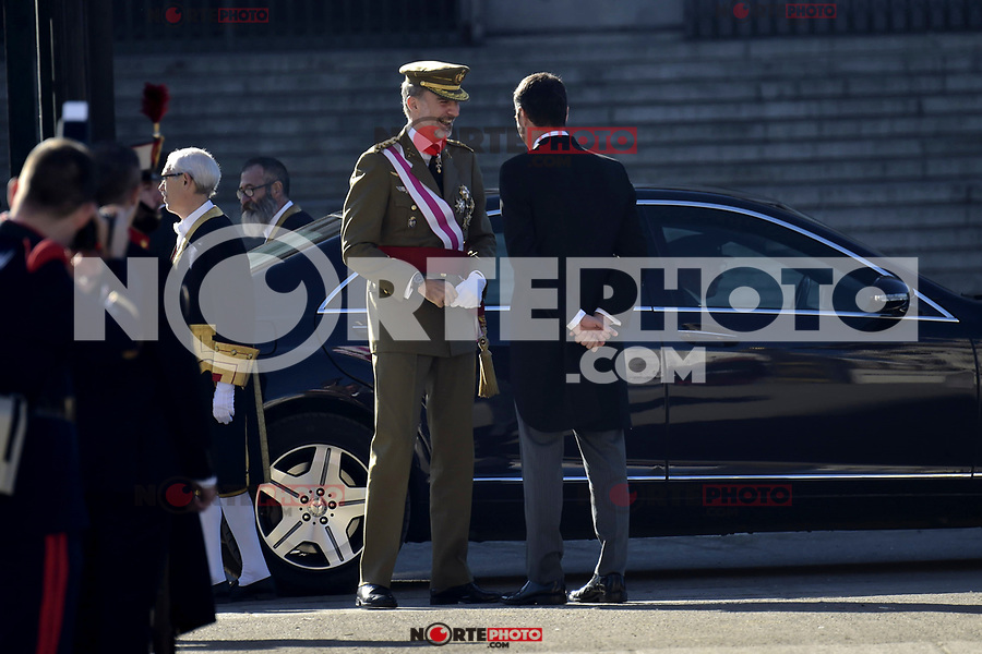 King Felipe VI of Spain and Pedro Sanchez attends to Pascua Militar at Royal Palace in Madrid, Spain. January 06, 2019. (ALTERPHOTOS/Pool) /NortePhoto.com