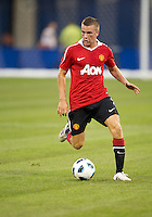 July 16, 2010 Tom Cleverley No. 35 of Manchester United during an international friendly between Manchester United and Celtic FC at the Rogers Centre in Toronto.
