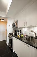 Contemporary black and white kitchen