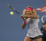 Serena Williams (USA) defeats Taylor Townsend (USA) 6-3, 6-1