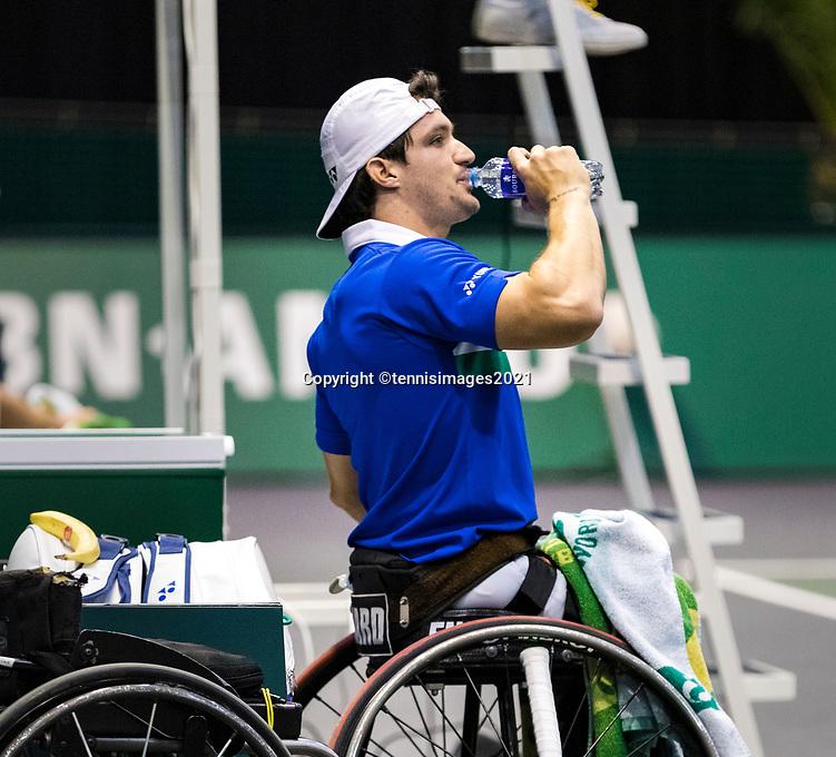 Rotterdam, The Netherlands, 5 march  2021, ABNAMRO World Tennis Tournament, Ahoy,  Second round wheelchair: Gustavo Fernando (ARG).<br /> Photo: www.tennisimages.com/