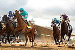 ARCADIA, CA  MARCH 7: #4 Authentic, ridden by Drayden Van Dyke and #2 Honor A. P., ridden by Mike Smith, at the start the San Felipe Stakes (Grade ll) on March 7, 2020, at Santa Anita Park in Arcadia, CA. (Photo by Casey Phillips/Eclipse Sportswire/CSM