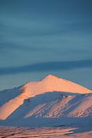 Sunset on the Philip Smith Mountains of the Brooks Range, Arctic Alaska