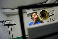 Lezione di musica.Music lesson.<br /> Scuola Popolare di Musica Donna Olimpia. The Popular School of Music Donna Olimpia.