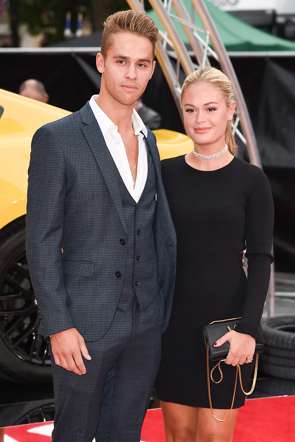 "Julius Cowdrey and Ella Willis<br /> attending the premiere of ""Logan Lucky"" at the Vue West End, Leicester Square, London. <br /> <br /> <br /> ©Ash Knotek  D3295  21/08/2017"