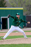 Beloit Snappers pitcher Ty Damron (20) delivers a pitch during a Midwest League game against the Peoria Chiefs on April 15, 2017 at Pohlman Field in Beloit, Wisconsin.  Beloit defeated Peoria 12-0. (Brad Krause/Four Seam Images)
