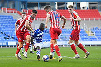 Lucas Joao of Reading middle is outnumbered as Tommy Smith of Stoke City plays the ball during Reading vs Stoke City, Sky Bet EFL Championship Football at the Madejski Stadium on 7th November 2020